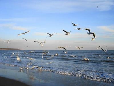 небо і море.