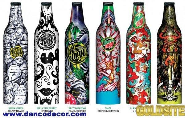 Декорирование бутылок для слабоалкогольных напитков