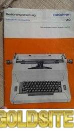 Электронная печатная машинка Robotron 202