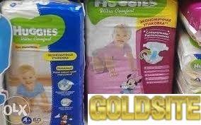 детские памперсы для мальчиков   и   девочек(хаггис)    №3и №4