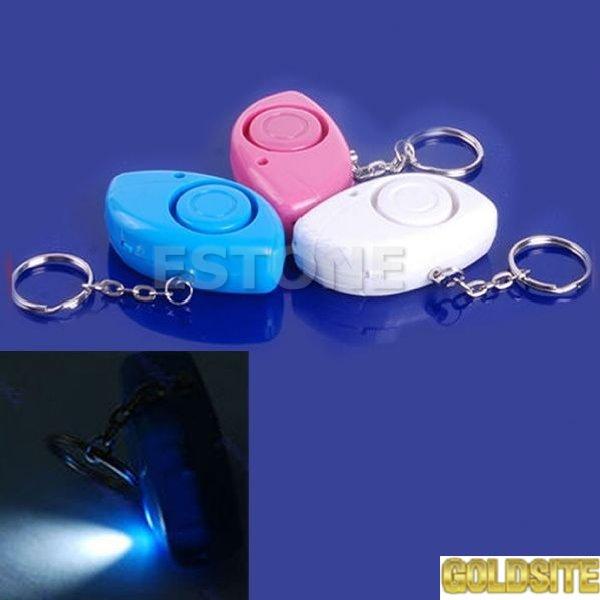 Личная сигнализация сирена брелок с фонариком