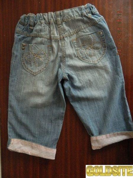 Легкие джинсовые бриджи NEXT для девочки