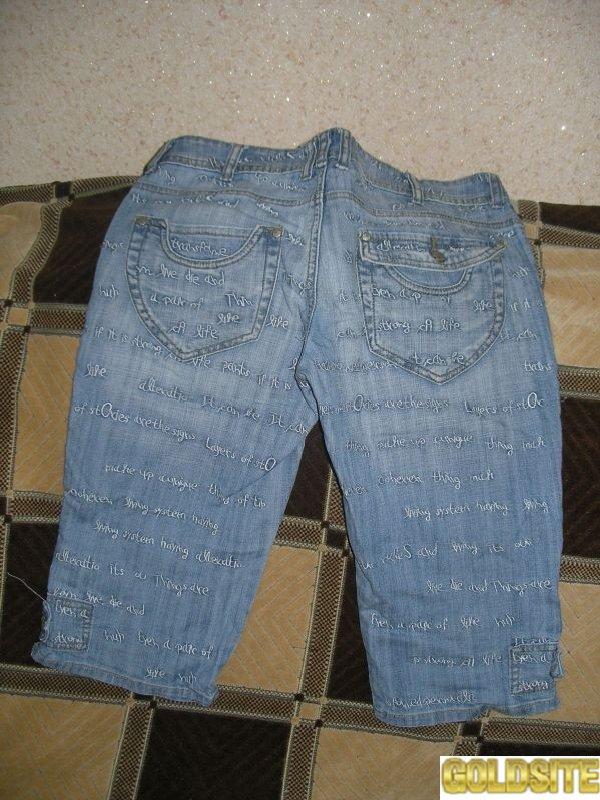 Продам джинсовые капри