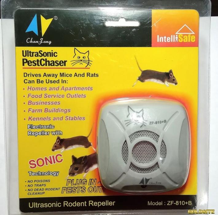 Надежный ультразвуковой отпугиватель мышей и крыс.  Купить отпугиватель грызунов.