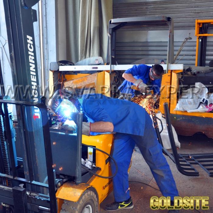 Сварочный ремонт и обслуживание рокл,   подъемных механизмов и гидравлических подъемников.