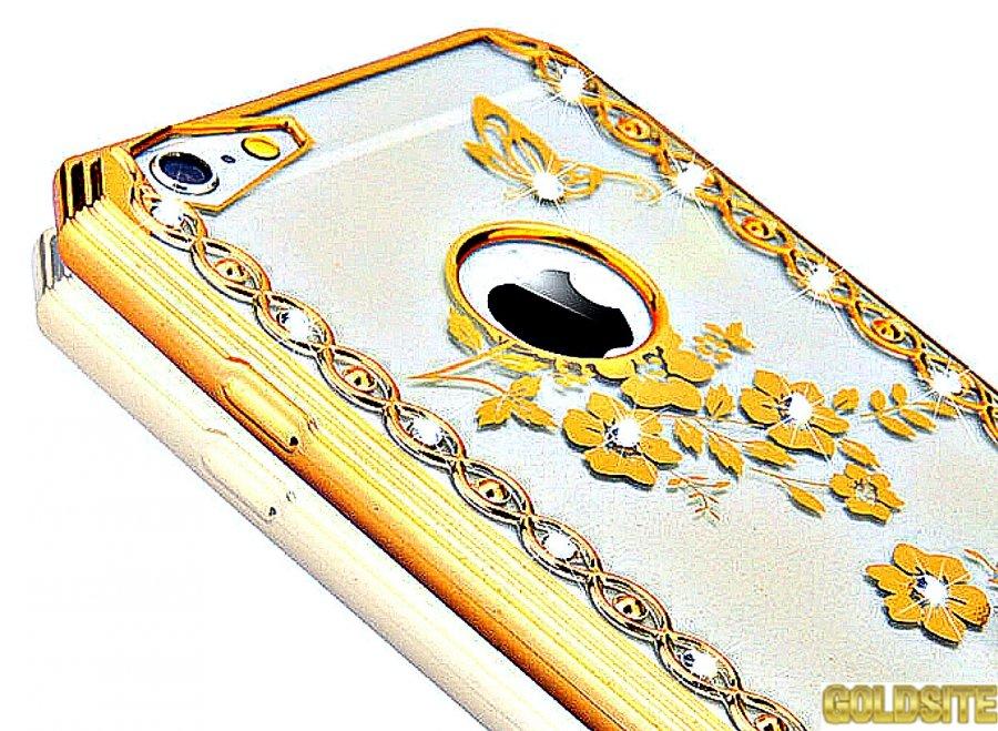 Чехол для модниц. с алмазами с подарком для всех марок телефона iPhone.
