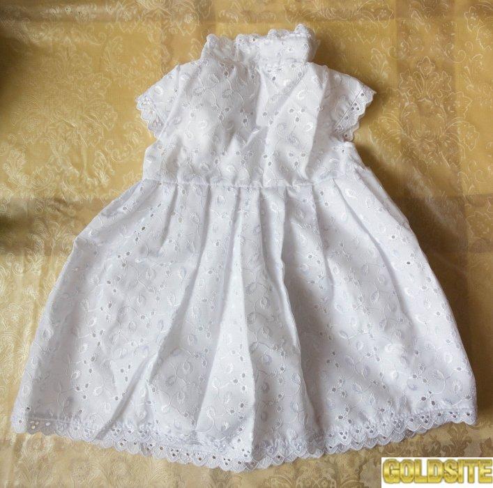 Платье и берет для новорожденной девочки