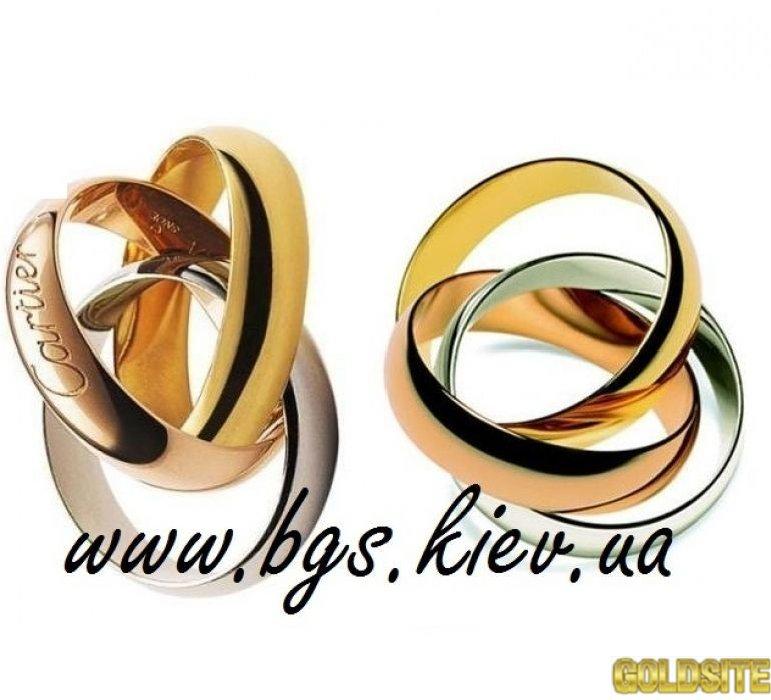 Золотое кольцо Trinity Cartier Картье Тринити