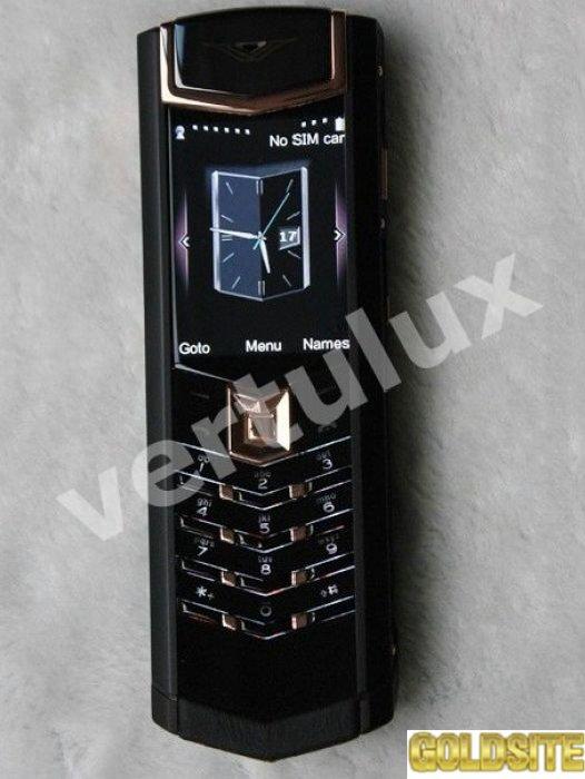 Vertu Signature S Design Dlc Red Gold Black Leather,  Vertu,  копии Vertu,  Vertu Киев