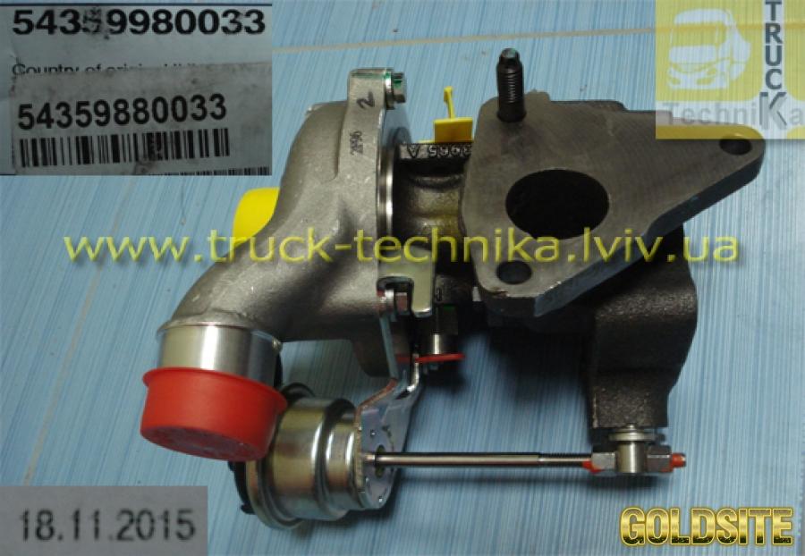 Tурбина турбокомпрессор Dacia,  Nissan,  Renault,  54359880033,  7701476891