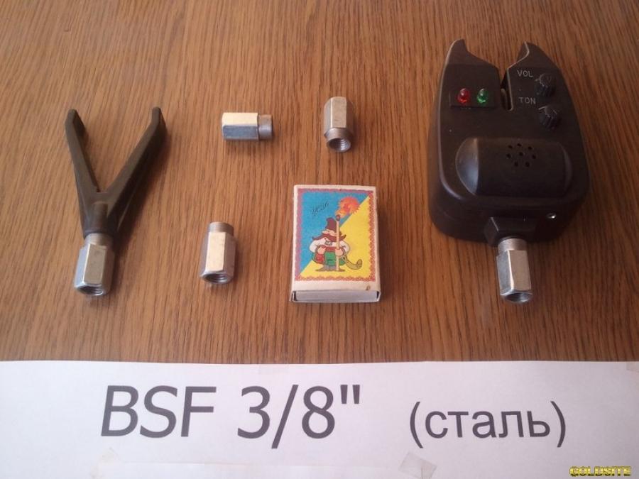 Рыбацкая гайка,  болт для Род Пода BSF 3/8 дюйма (для вкручивания сигнализатора)