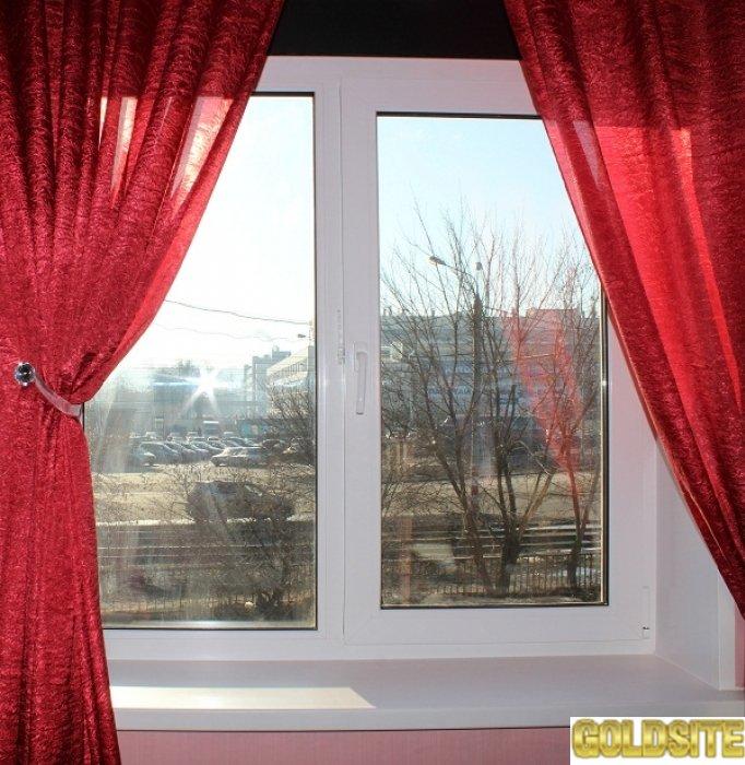 Пластиковое окно Rehau 1300x1400 мм