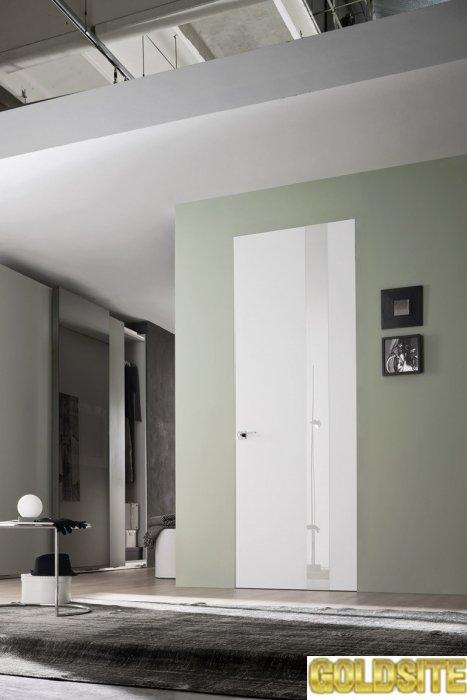 Межкомнатные двери скрытого монтажа зеркало