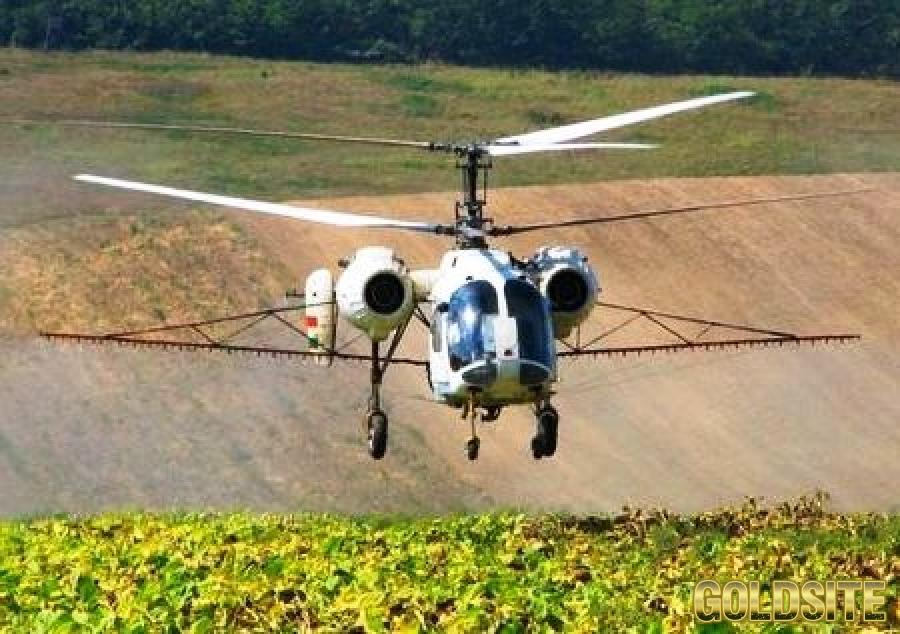 Десикація соняшнику вертольотом