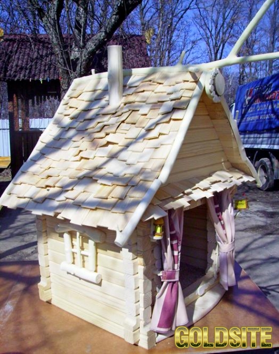 Будка для собачки.  Продам будку для декоративной собачки.  Экслюзивная будка.  Сделаем любой размер
