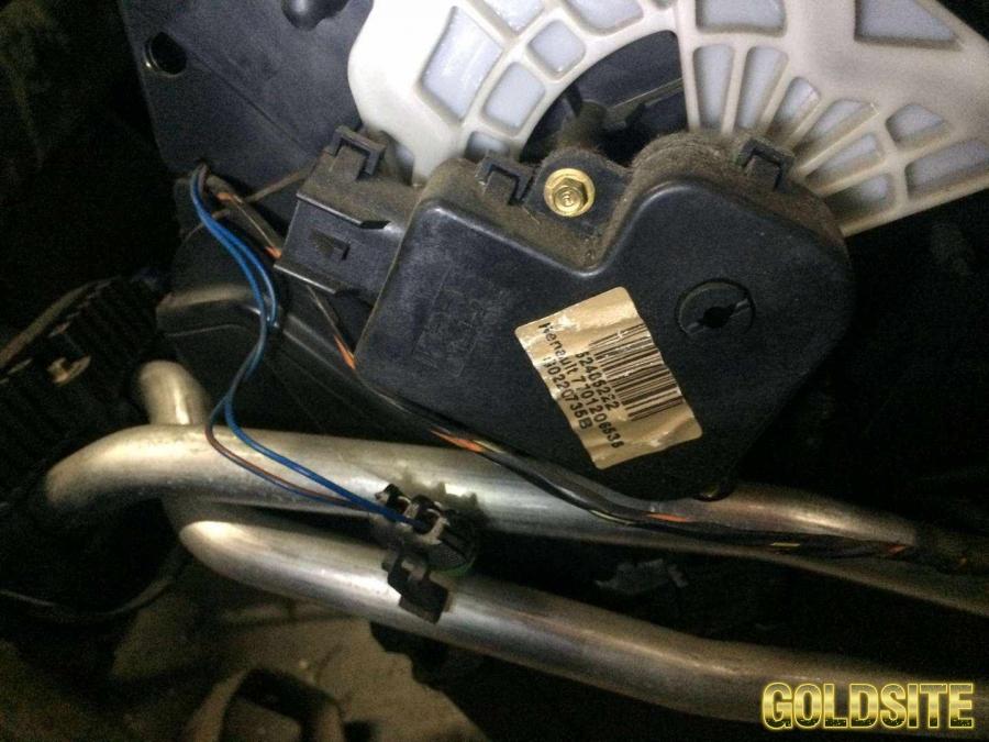 Б/у моторчик заслонки отопителя , печки Renault Laguna 2,  7701206538,  7701206536,  Рено Лагуна 2