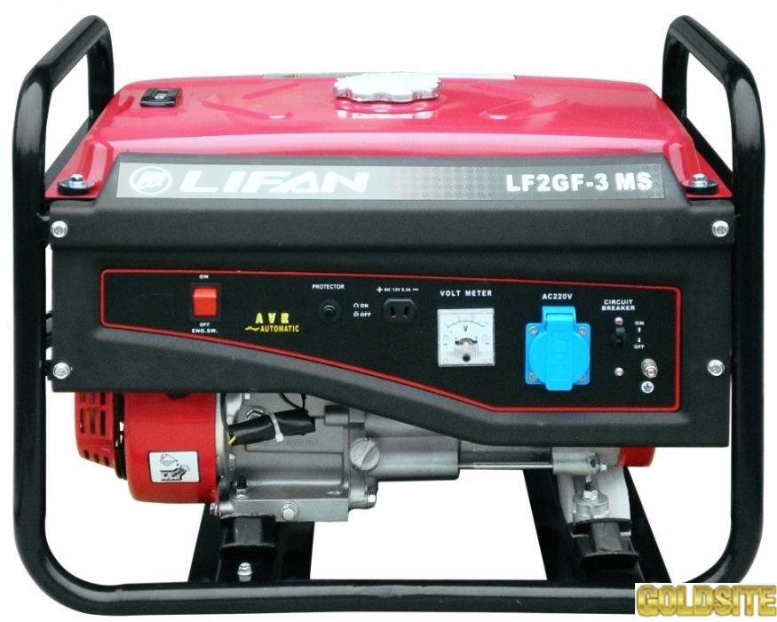 Продажа двухтопливных генераторов газ/бензин Lifan LF2GF-3MS