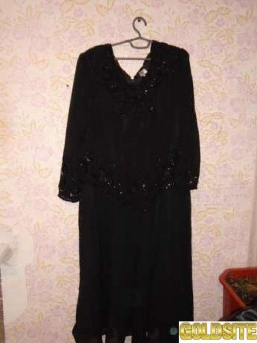 Платье вечернее чёрное Италия ХХХL