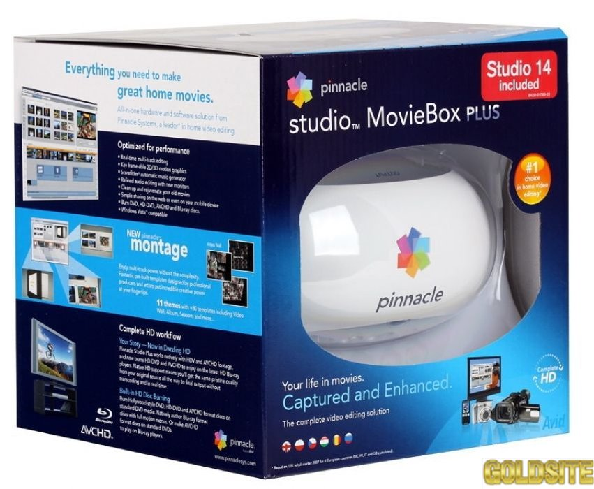 Pinnacle studio movie box plus