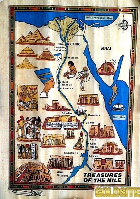 """Картина """"Карта сокровищ Нила"""""""