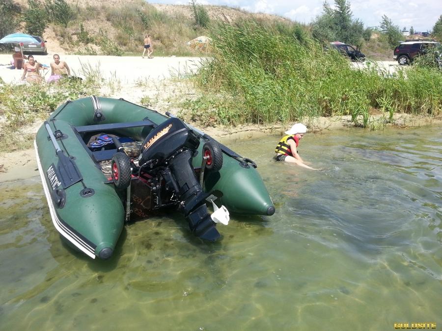 Колеса транцевые для надувных лодок