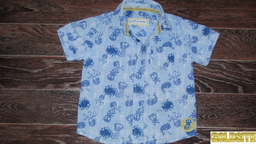 Летняя рубашка тенниска RochaLittleRocha на мальчика р-р 98
