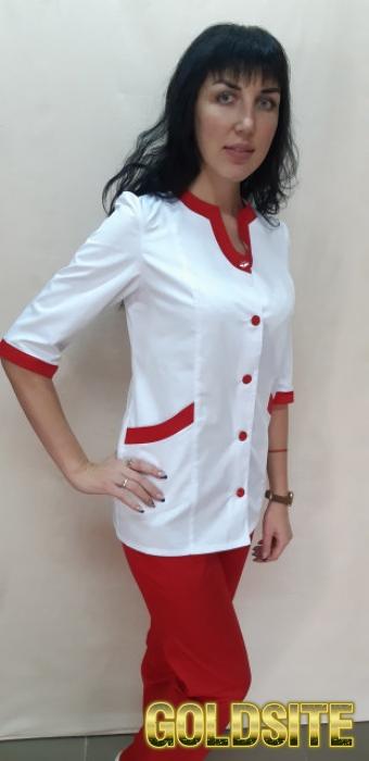 Женский медицинский коттоновый костюм