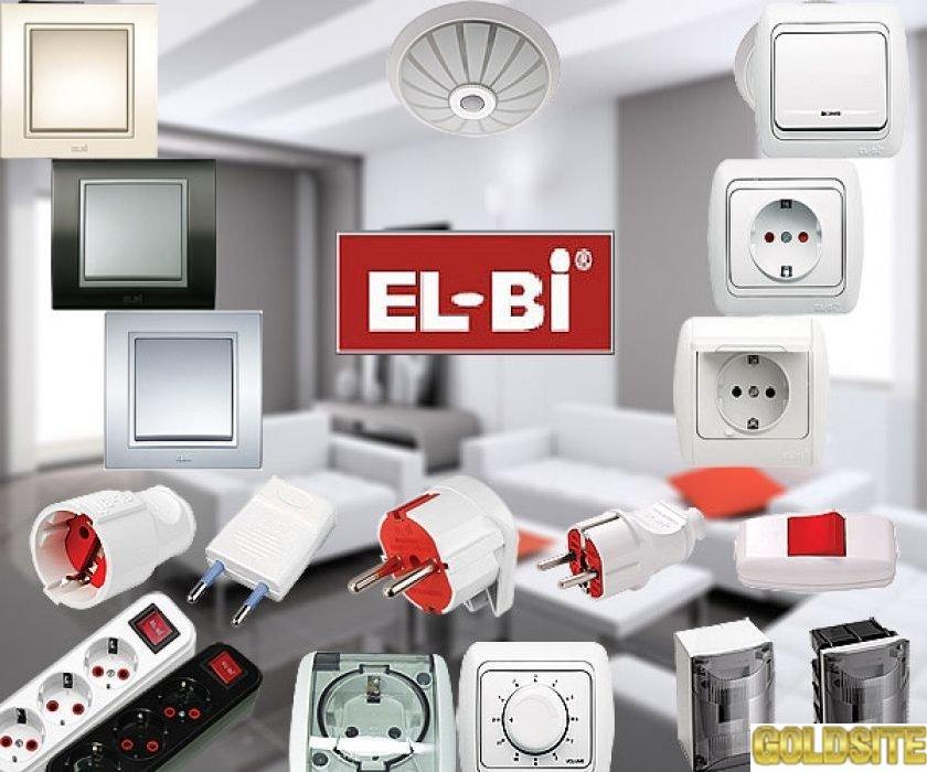 Розетки,  выключатели EL-BI  ZENA,  ZIRVE,  TUNA,  ALSU,  EVA Турция