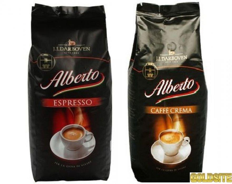 Кава зерно ALBERTO Cafe Espresso,  Crema 1 кг.  опт.