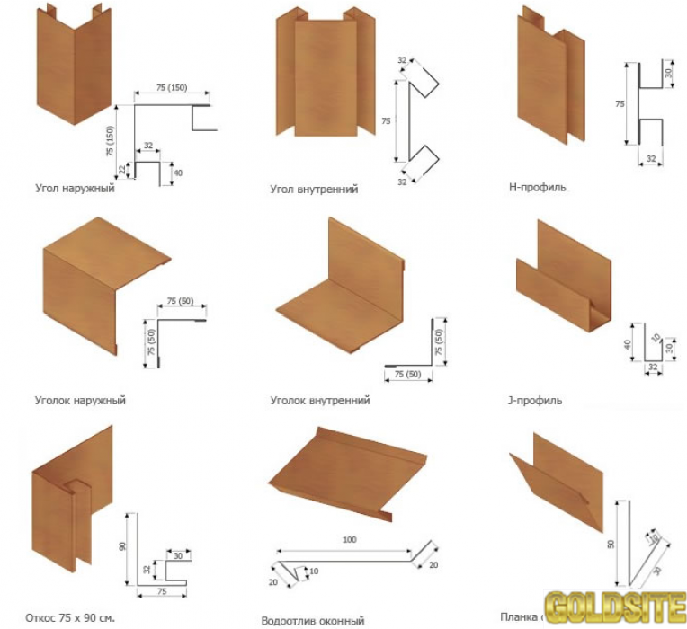 Металлический сайдинг блок хаус (Block House)