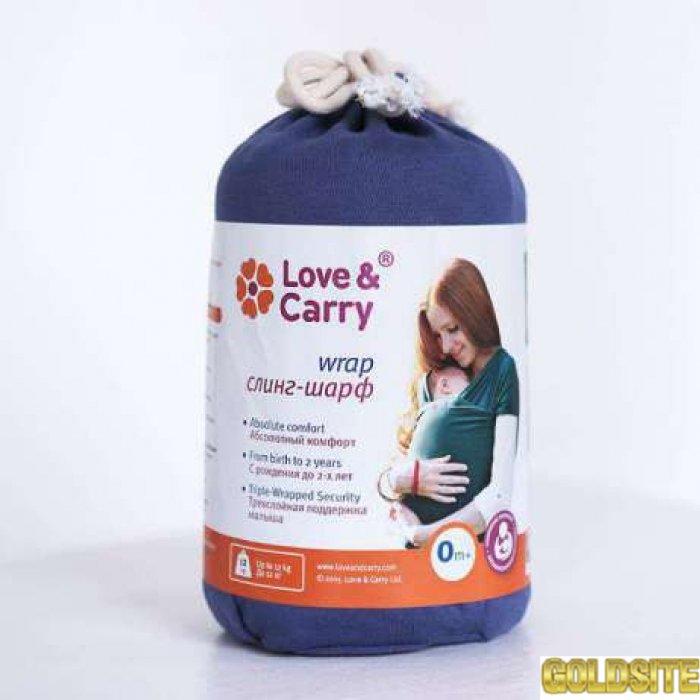 Продам трикотажный слинг-шарф Love & Carry — Нэви