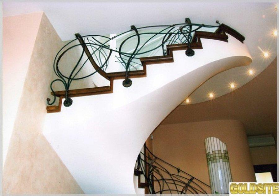 Изготовление лестниц в Киеве - стеклянных,  кованых,  винтовых