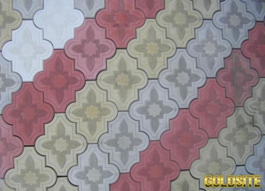 Формы для тротуарной плитки Клевер узорный 4, 5 см