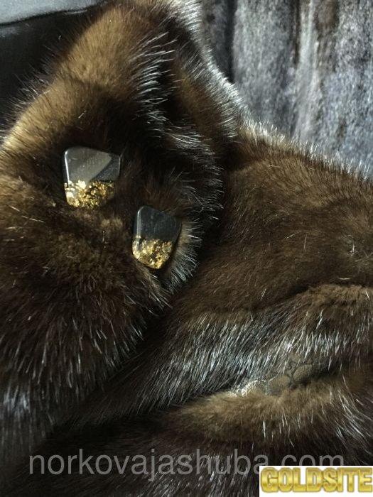 Норковый полушубок поперечка с кожей распродажа