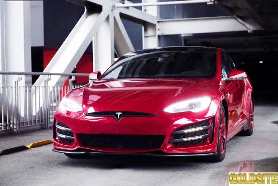 Тюнинг автомобиля Tesla Model S в городе Киев