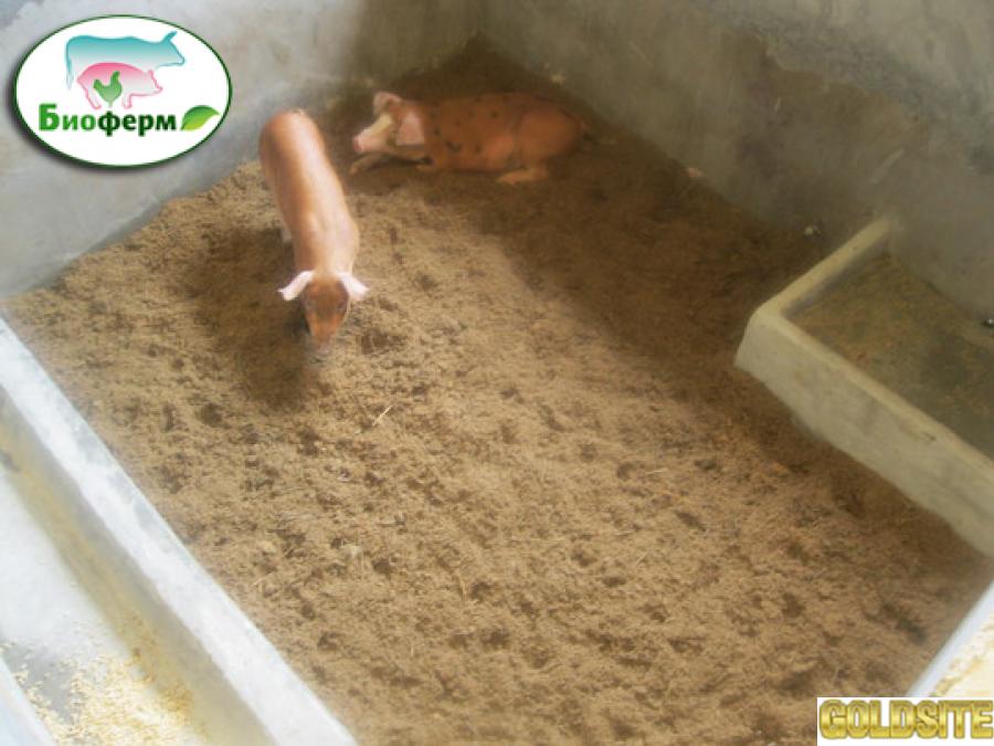 Эко подстилка Биоферм для животных и птиц (свиней,  кур,  гусей,  КРС,  пушных зверей)  Украина