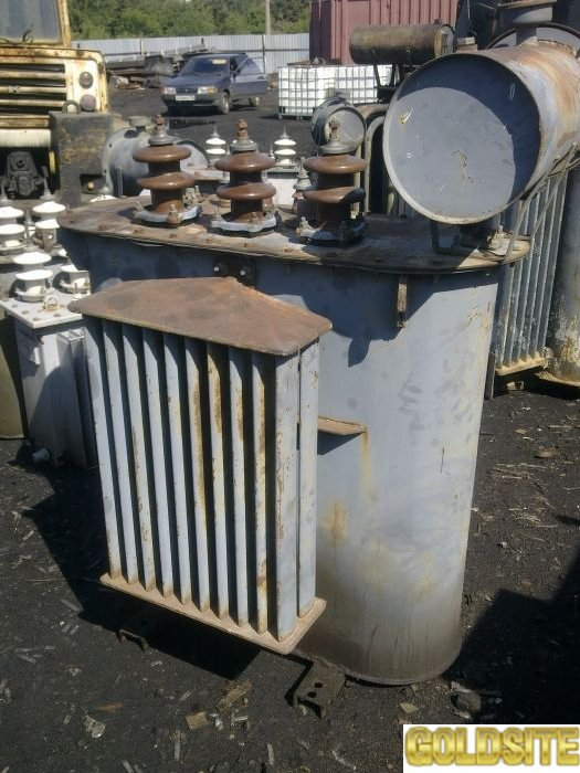 Силовой трансформатор,    б/у.    Услуги по демонтажу и разборке крупногабаритных б/у трансформаторо