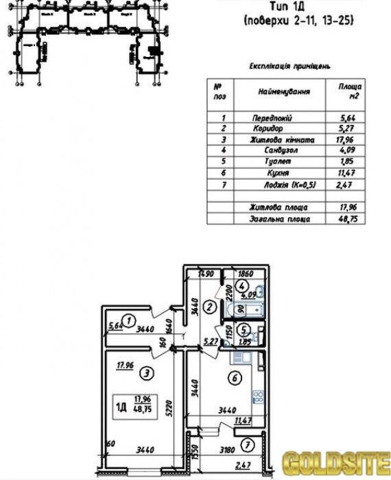 Отличное предложение - 6 этаж  Милославская ул.   14.   ЖК Милославичи
