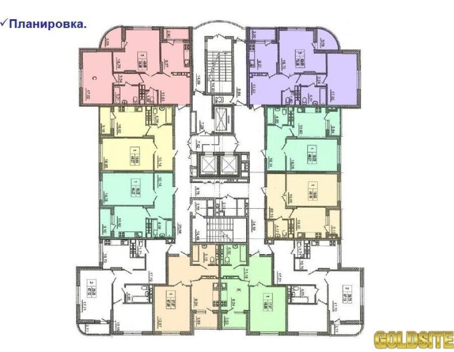 Без комисии!   Урловская ул. , 23Г.  10 этаж.   Урловская строй площадка,  №19