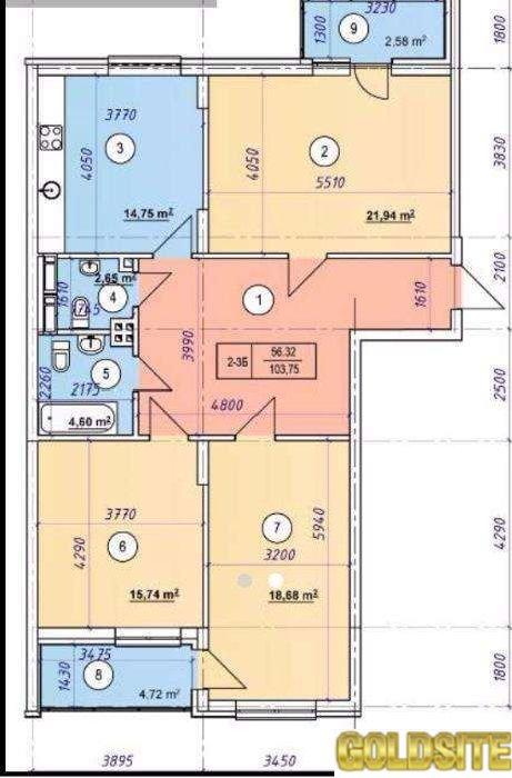Без комисии!   Златоустовская ул. , 14-18.  10 этаж.   ЖК Златоустовский