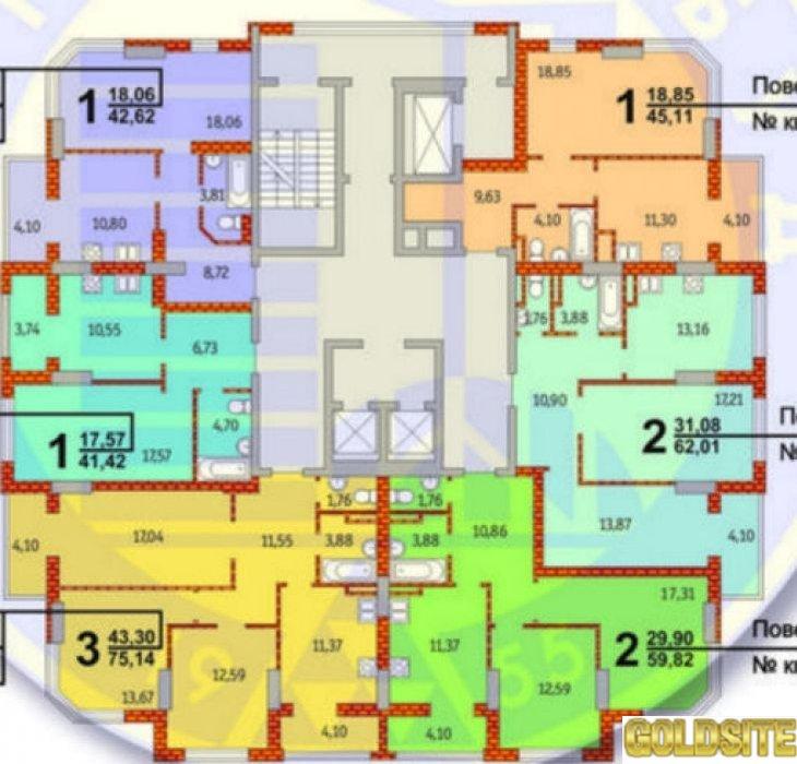 Супер 2 квартира  Гмыри ул.  17 .   ЖД на ул.  Гмыри 17