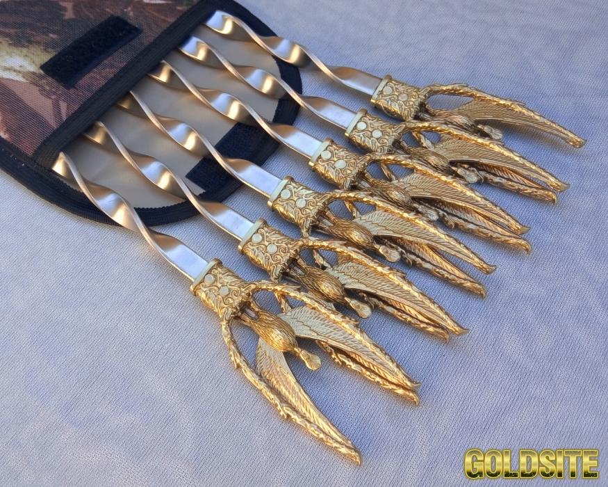 Шампура Жарптица набор шампуров в чехле из плотной ткани 6шт