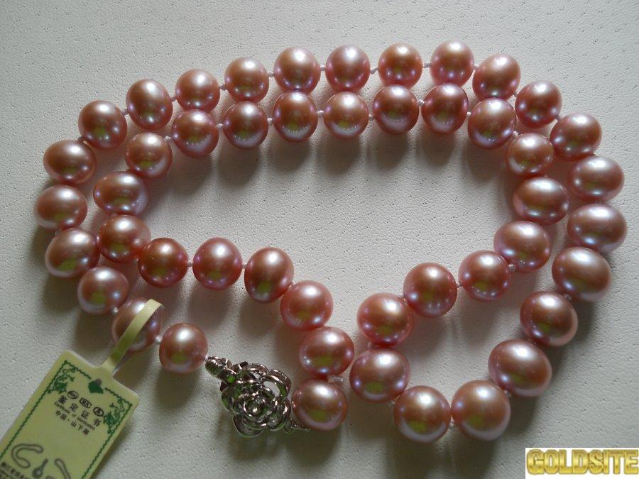 Ожерелье из жемчуга лилового цвета (лаванда)