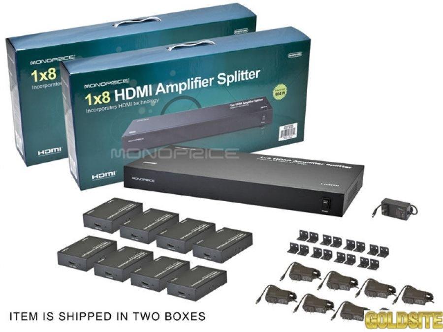 Сплиттер удлинитель HDMI 1×8 (50метров)  по Cat5e/Cat6