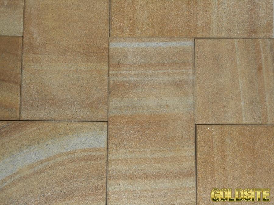 Goldsite пиленная плитка из камня песчаника природного