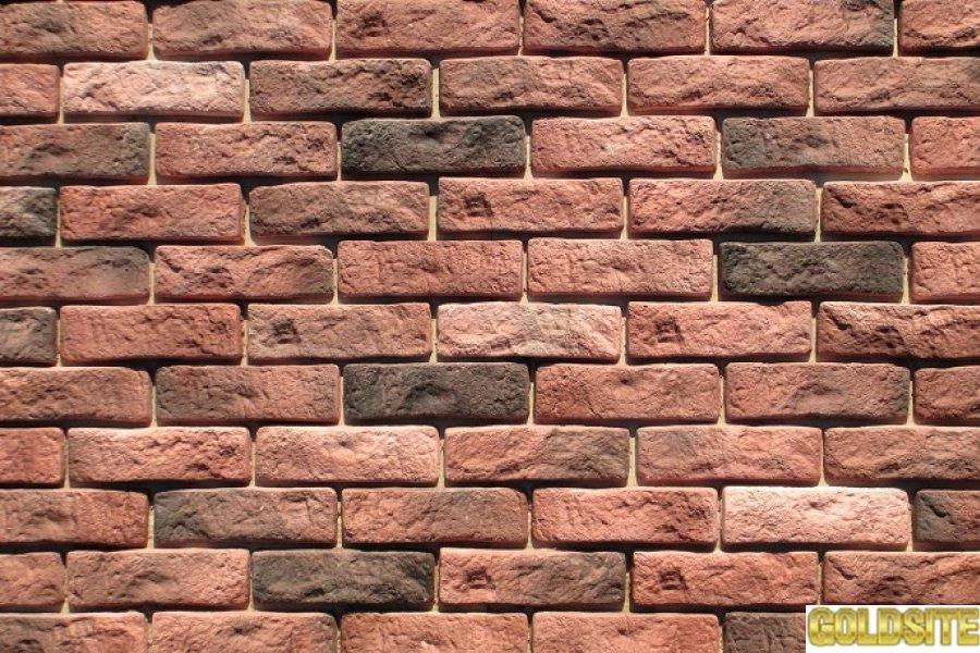 Искусственный декоративный камень Рустик Фламинго,  Муссон,  Графит