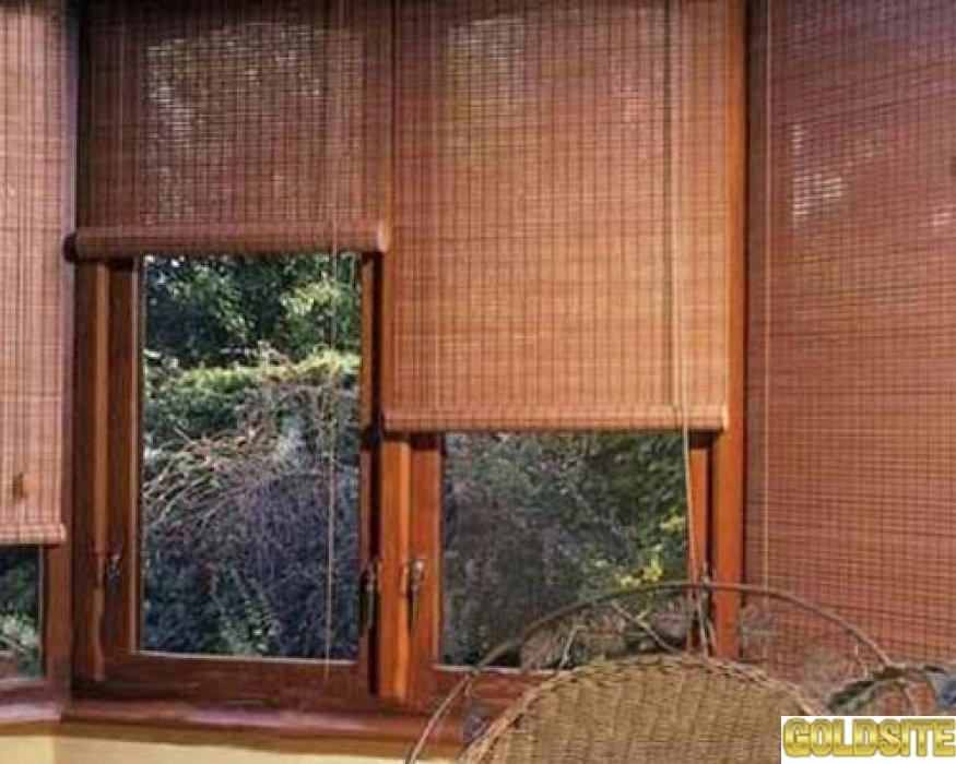 Тканевые ролеты и бамбук