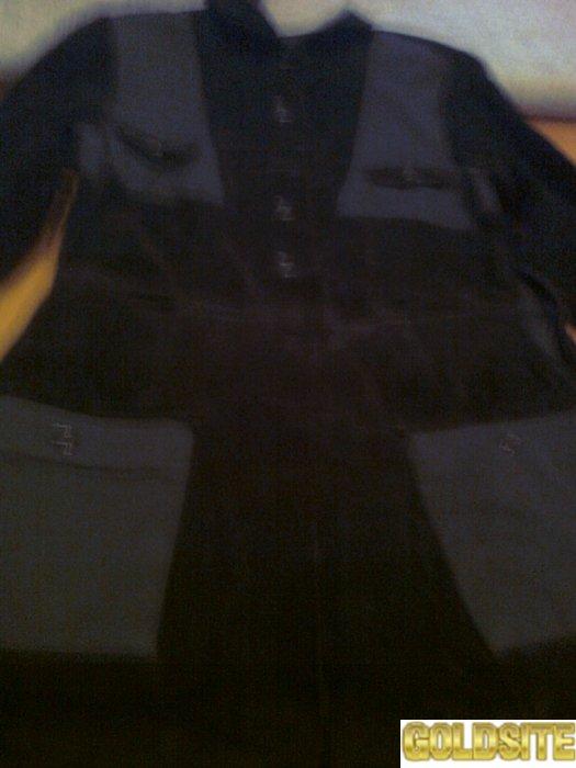 Черное вельветовое платье отличного качества с карманами,  длинный рукав