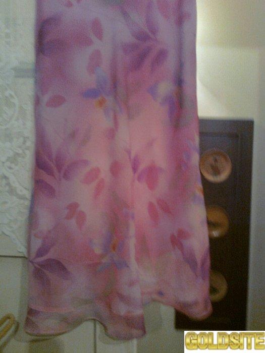 Красивая розовая прозрачная юбка на подкладке