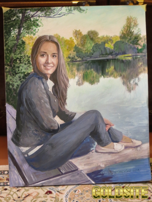 Портрет акварелью,  гуашью
